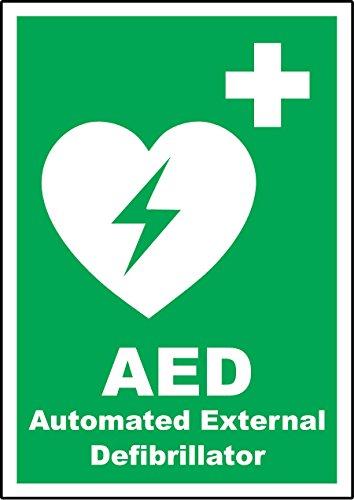 Automatiesierter Externer Defibrillator Hinweisschild–3mm Aluminium Dibond 300mm x 200mm x 200mm
