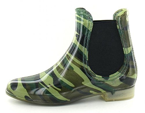 Womens Ladies Girls Chelsea Dealer Stylish Ankle Wellington Boots Wellies Welly Boots Size UK 3 4 5 6 7 8 Festival PU