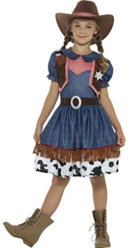 Confettery - Kinder Texanisches Cowgirl-Kostüm mit Hut, 164-170, 14-15 Jahre, (Kinder Tanz Cowgirl Kostüme)