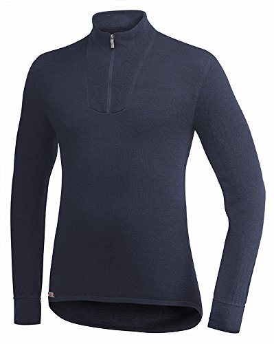 Woolpower Unisex Zip Turtleneck 400 Dark Navy