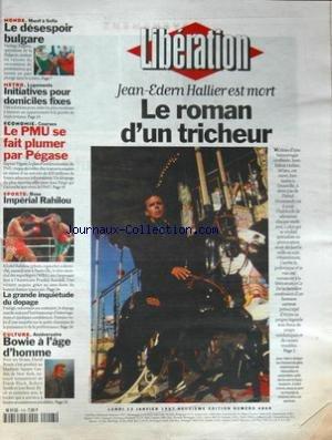 LIBERATION [No 4868] du 13/01/1997