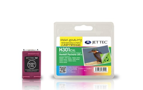 Jet Tec CH564EE HP HP301XL/CH564EE color In England hergestellte Wiederaufbereitete Tintenpatrone Couleur High capacity