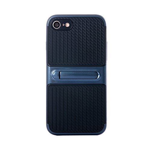 IPhone 6 Plus & 6s Plus Fall Shockproof TPU + PC Schutzhülle mit Halter für iPhone 6 Plus & 6s Plus by diebelleu ( Color : Red ) Dark blue