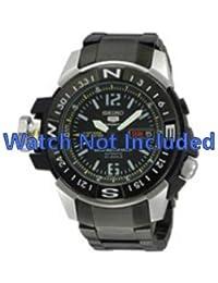 Correa de reloj Seiko 7s36 02k0/SKZ231K1 zwart (no incluidos en el precio del reloj. Correa de reloj original solamente)