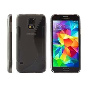 iProtect S-Line TPU Schutzhülle Samsung Galaxy S5 Hülle grau