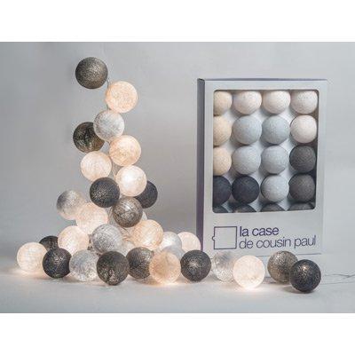 La Case de Cousin Paul - Guirlande lumineuse 20 boules colorées - Modèle Brooklyn