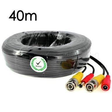 KKmoon Video-Kabel für CCTV Überwachungskameras (BNC männlich und Netzteil) 40M Digital Extension Card