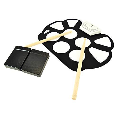Beliebtes Instrument Elektronisches Roll Up MIDI Schlagzeug - W / 9 E - Drum Pads, Fußpedale, Drumsticks & Netzteil Tabletop Roll Up Drum Kit | Loaded W / Drum elektrische Kits & Songs Geburtstagsges (Alles In Einem Table-top-computer)
