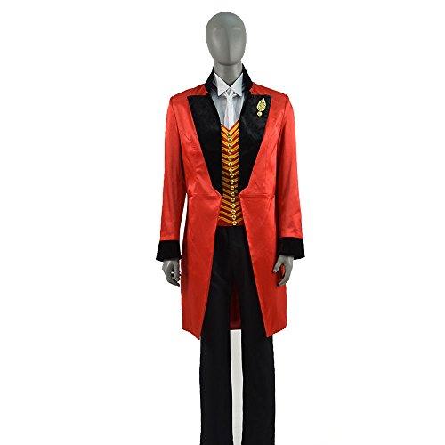 Preisvergleich Produktbild Zhangjianwangluokeji Herren Bühnenkleidung Rot Zirkus Kostüm Film-Charakter Cosplay Kostüm (XS,  Schwarzer Kragen)