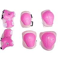 Kids 'Roller protezione, Eruner 3–6anni Bambini Roller polso gomito ginocchiere * ispessimento Design * Lame protezione per [Sport Ciclismo Pattinaggio] 6pc, Rose &