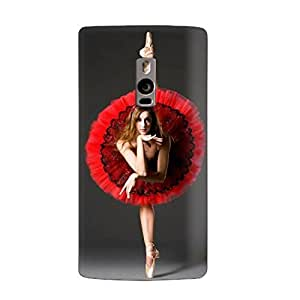 Clapcart Girl dance Art Printed Mobile Back Cover for One Plus Two -Multicolor