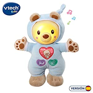 VTech- Cuco Cuna Muñeco Infantil con Relajantes Melodías, Canciones y Sonidos de la Naturaleza, Suave Luz Noche, Multicolor (3480-502122)