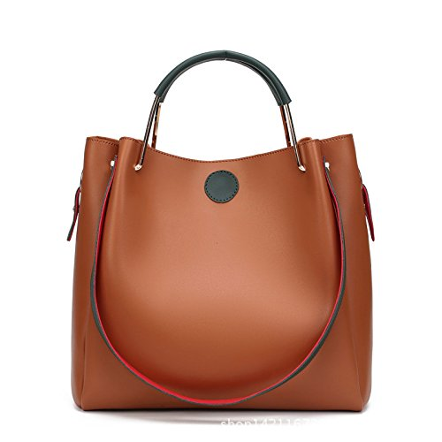 Koson-Man, Borsa tote donna, Brown (marrone) - KMUKHB124-04
