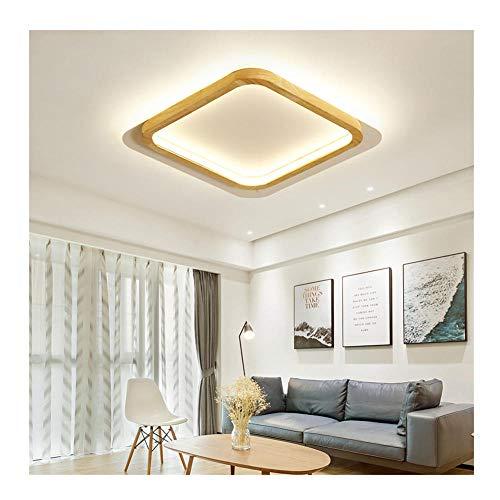 LED Deckenlampe Dekorative Restaurant Bar dimmbare Fernbedienung Lampe Home Wohnzimmer LED Deckenlampe, 40x40x6cm Warmweiß