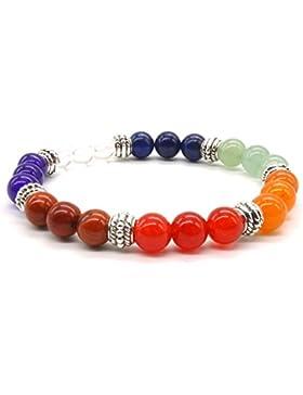 Yoga Halbedelsteine Achat Stein Armband Jade Reiki Heilung 7 Chakra Meditation Balancing Stretch Armband