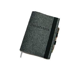 Kalenderhülle Hülle Einband Wollfilz inkl. Stickerei mit Stifthalter für Din A5 Buchkalender, Notizbuch
