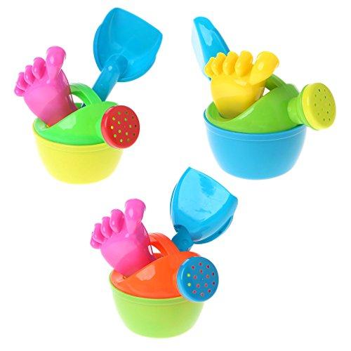 MAZE MA 3-teiliges Set Baby Kinder Bad Blumentopf Sand Strand Spiel-Spielzeug lustige Lernwerkzeuge