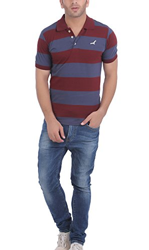 American-Crew-Mens-Polo-Stripes-T-Shirt