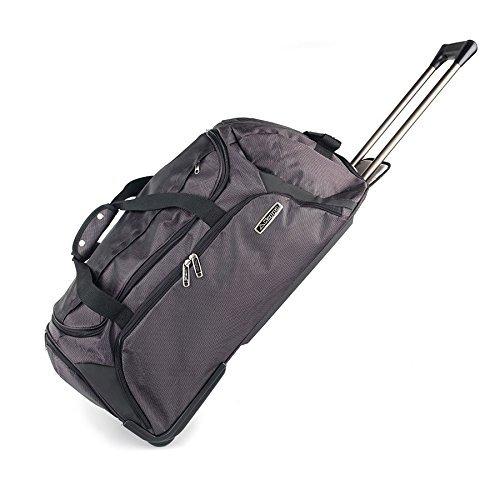 Kappa® Trolley Valigia da viaggio grande con ruote, colore: nero/grigio