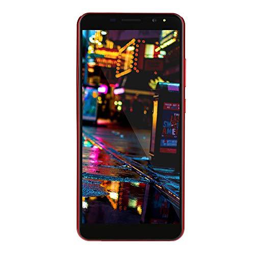 Fulltime E-Gadget Smartphone, 6.0 Zoll DoppelHD Kamera Android 6.0 Smartphone 512M + 4G GPS 3G, Kamera 100W + 200W, Anruf-Handy Doppel-SIM Handy (Rot)