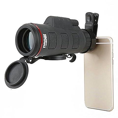 35x 50Monokular Scope Kamera Handy Teleobjektiv Teleskop Kamera Objektiv Kit für iPhone 6S Plus/6S/6/5S/5C/5, Samsung Galaxy, LG, HTC, Moto, Nexus, Huawei und mehr
