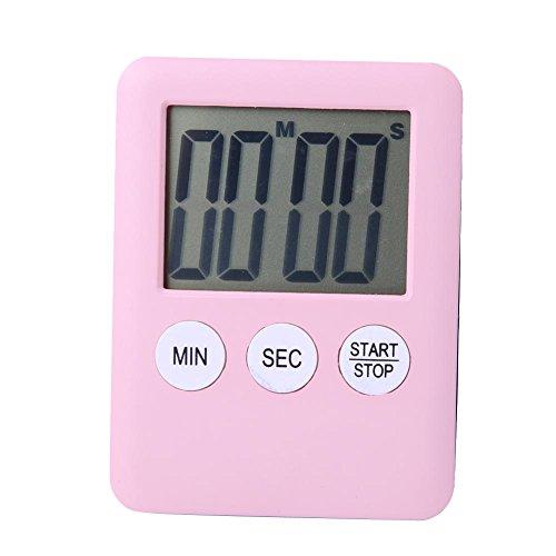 Magnetisches LCD Anzeigen Digital Zeitzähler für Küchen Koch Gymnastik Lauf rose