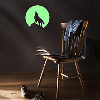 ABCUV Moonlight Wolf Glow in the Dark Sticker