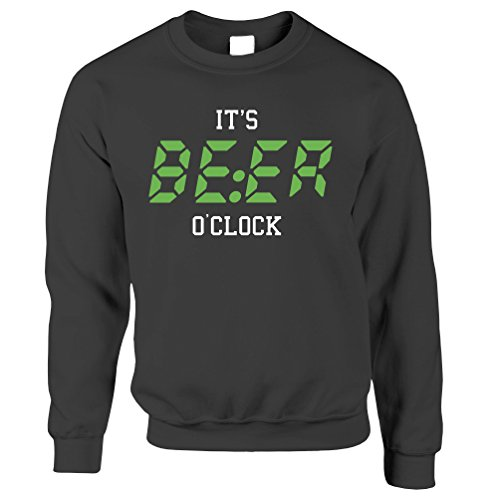 Es ist Bier Uhr, Zeit zu trinken !! Lustiger Slogan Getränk Unisex-Pullover Einzigartigen Männer Uhren