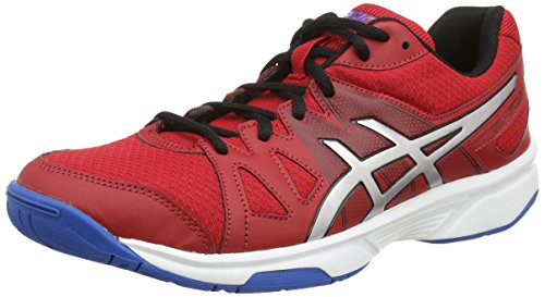 Asics Gel-upcourt, Herren Squashschuhe Rot (fiery Red/silver/electric Blue 2393)