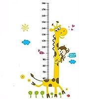 LLZ.COQUE Kids Grow Up Height Measurement Chart in Centimeters Cute Giraffe Children Wall Stickers Decals Art for Kids Room Decor Kids Room