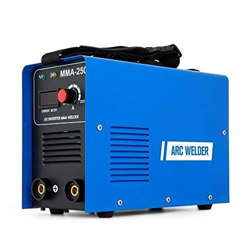 Mikroschweißgerät ARC MMA Schweißgerät 250AMP DC 220V IGBT Inverter Schweißgerät ARC MMA Stick Tragbares Schweißgerät Digitaler Bildschirm (Color : MMA-250, Size : 220V) (Miller Welder Digital)