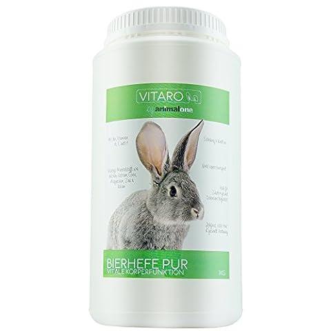 animalone - BIERHEFE PUR 1 KG - für Kaninchen & Nager (Bier Kaninchen)