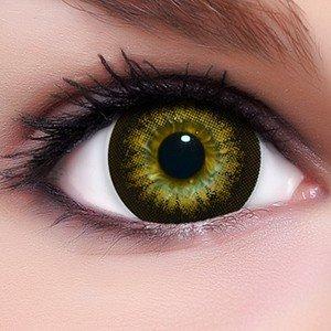 Linsenfinder Lenzera Circle Lenses braune 'Babe Brown' ohne und mit Stärke + Kombilösung + Behälter Big Eyes farbige Kontaktlinsen