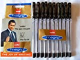 10 X Cello Fine Grip Non-stop Writing Ball Point Pen Black Ink Writing Ballpoint Pen # Brand Ad By Indian Cricketer Mahindera Singh Dhoni(Ship from India)