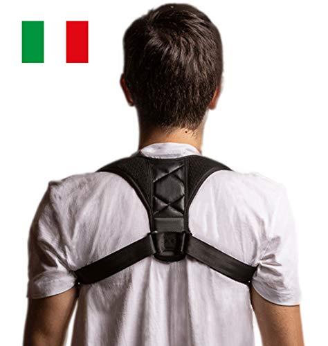 Fascia posturale spalla e schiena DELBOZ - Correttore posturale Uomo Donna - Sostegno regolabile e traspirante - Tutore casa,sport,ufficio - Sollievo dolore collo