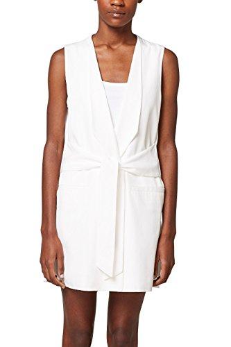 Weiße Blazer Kostüm - ESPRIT Collection Damen 048EO1H001 Anzugweste, Weiß (Off White 110), 34