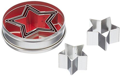 Städterausstechformen-Set Sterne Silber 4,5 cm -