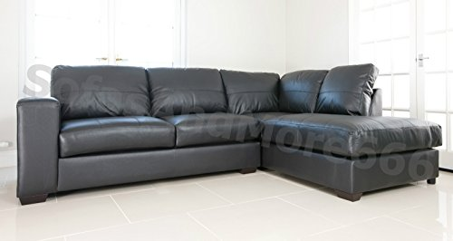 REAL Leather Sofas Furniture Amazoncouk