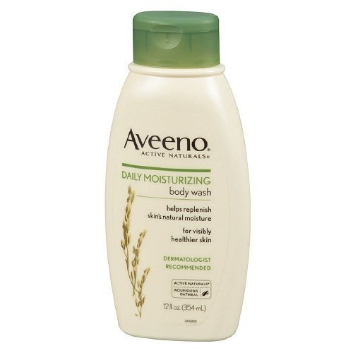 Aveeno Active Naturals Body Wash, Daily Moisturizing 12 fl oz (pack of 2) by Aveeno