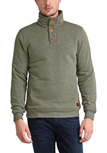 BLEND Tedder Herren Sweatshirt Pullover Sweater mit Teddy-Futter aus hochwertiger Baumwollmischung Ivy Green (77026)