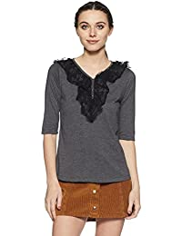 Style Quotient by noi Women's Embroidered T-Shirt
