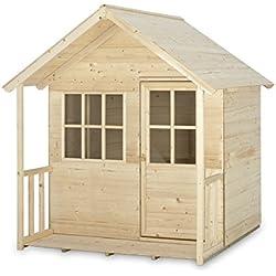 TP TOYS Cabane en Bois pour Enfants avec terrasse
