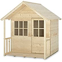 Kokido 347, Casita infantil de madera con porche, 118 x 131 x 146 cm