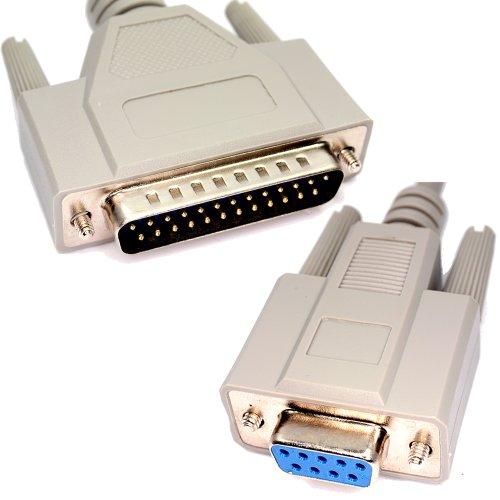 Db9f Modem (Seriell RS232 Modem Kabel DB9F Zum DB25M 2 m)