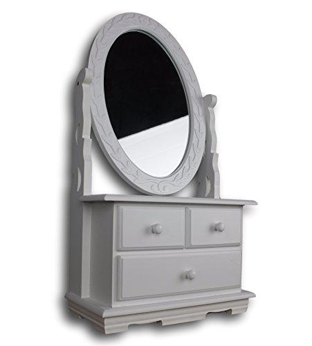 elbmbel-Cmoda-con-espejo-madera-diseo-rstico-color-blanco