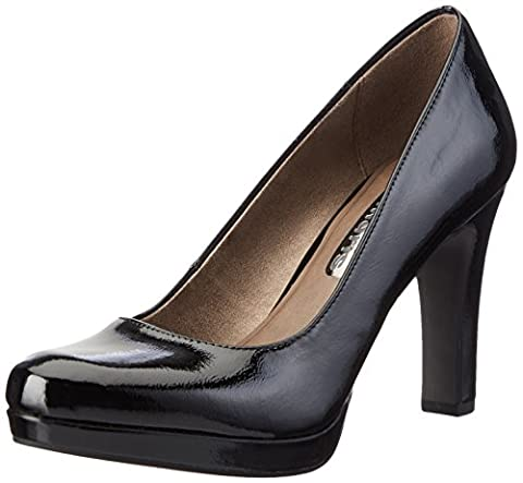 Tamaris 22426, Escarpins Femme, Noir (Black Patent 018), 40 EU