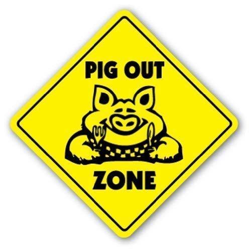 Dia456yris WSMsign Señal de Cerdo Fuera de la Zona para Barbacoa, Barbacoa, Salsa de Cerdo, ahumador...