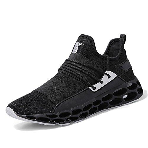 Zapatillas para Correr para Hombre Unisex Moda Guerrero Deportes Zapatos Casuales Amortiguación Desgaste Al Aire Libre Zapatillas para Correr,Black-40