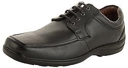 Allen Cooper Mens Black Leather Derby Shoes - 7 UK