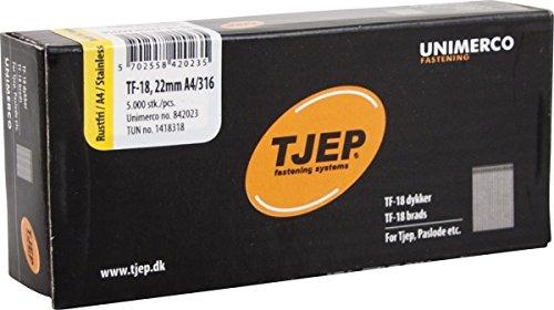 TJEP TF-18 Stiftnägel 22 mm Rostfrei A4